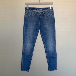 Levi's 711 Skinny medium wash jeans size 28